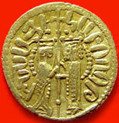 An Armenian-inscribed golden coin of King Hethum I.