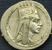 Tetradrachma of Tigran II the Great, King of Armenia.