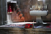 Altar in Gandzasar's Cathedral of St. John the Baptist, Nagorno Karabakh.