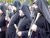 Katholikos of All Armenians, Patriarch of Jerusalem, Katholikos of the Holy See of Cilicia and Patriarch of Constantinople.