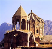 The dome of the Cathedral in St. Stephanos, a late medieval Armenian monastery in northern Iran.