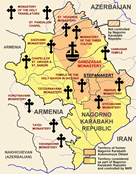 Medieval Armenian ecclesiastical monuments in and around the Nagorno-Karabakh Republic.