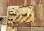 Bas-relief of the Lion—a symbol of the Vahtangian princes of Artsakh.