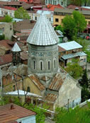The medieval Armenian cathedral of St. Gevorg (St. George) in Tbilisi.
