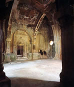 The Gandzasar Monastery: interior of the gavit.
